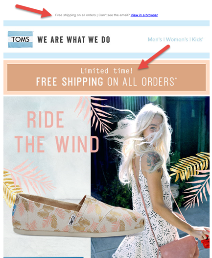 Email marketing design call to action
