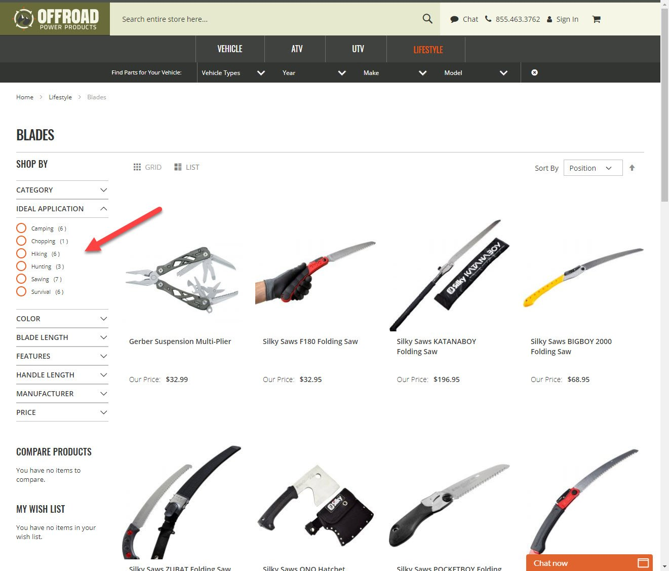 OPP-Knive-Shopping